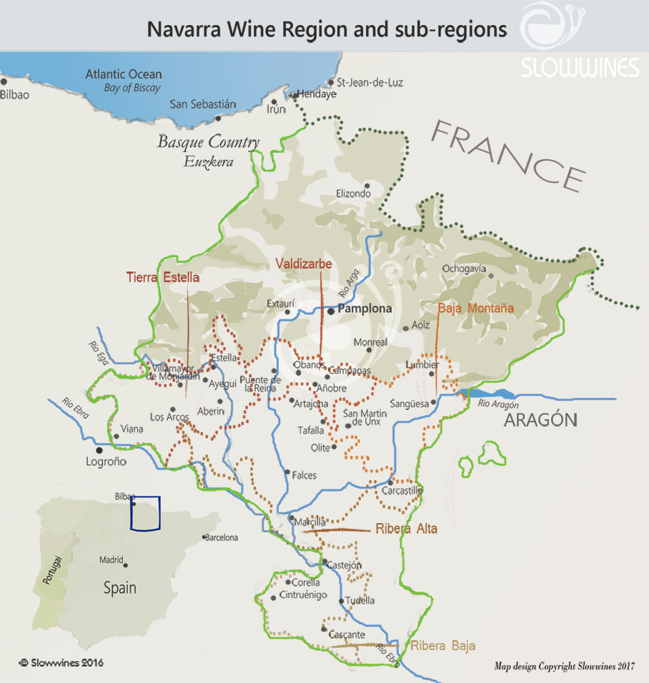 Map Of Spain Navarra.Navarra Northern Spain Wines Nieto Viajes Y Eventos Sl