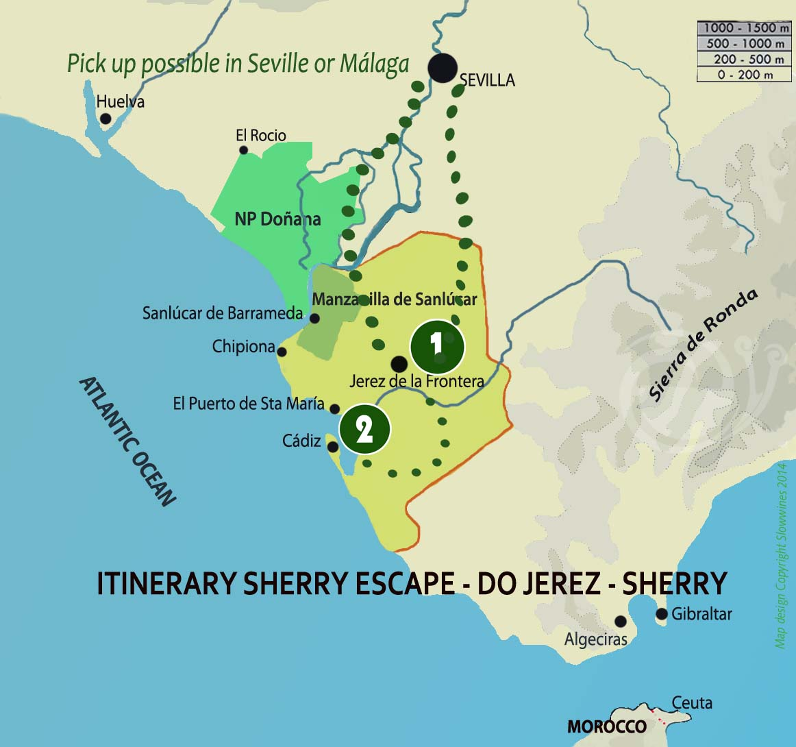 sherry wine map slowwines