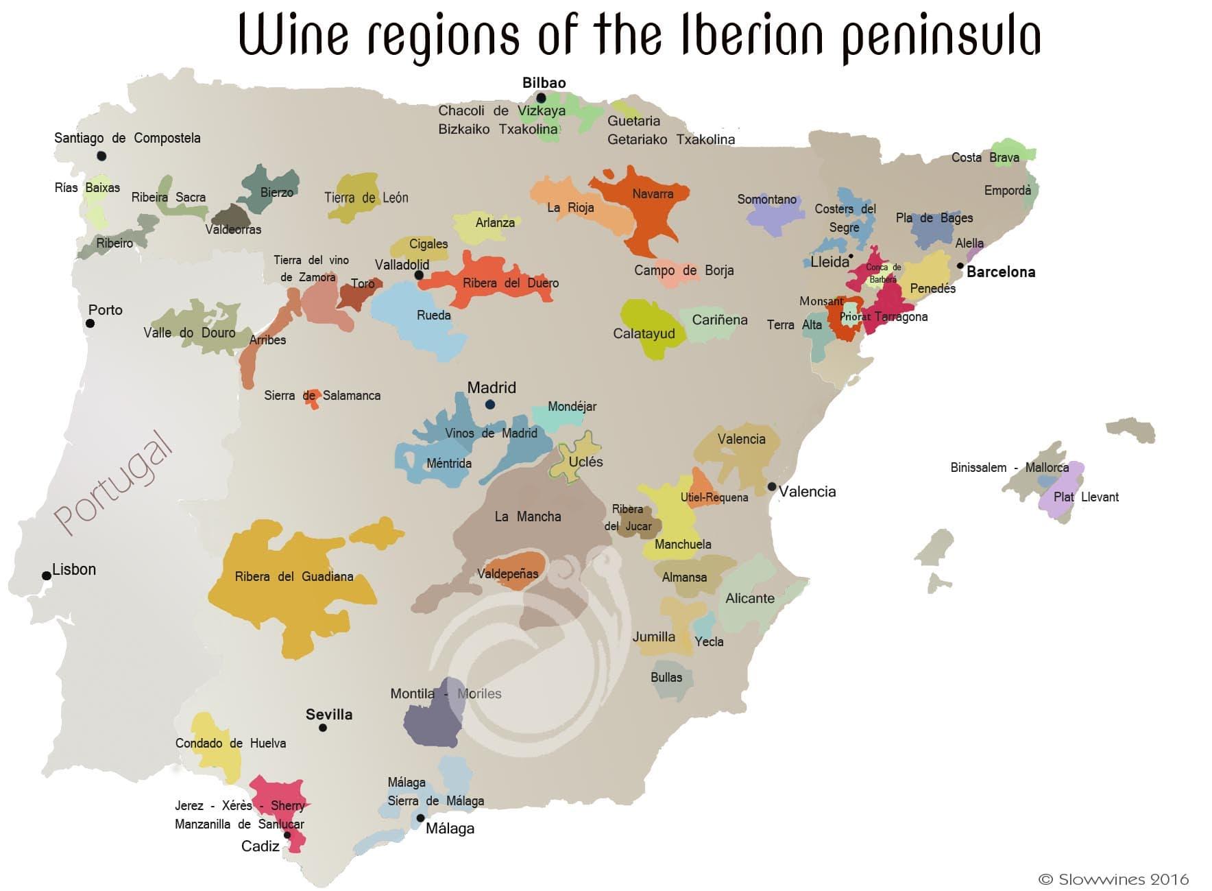 Calatayud Spain Map.Iberian Wine Regions Slowwines Travel