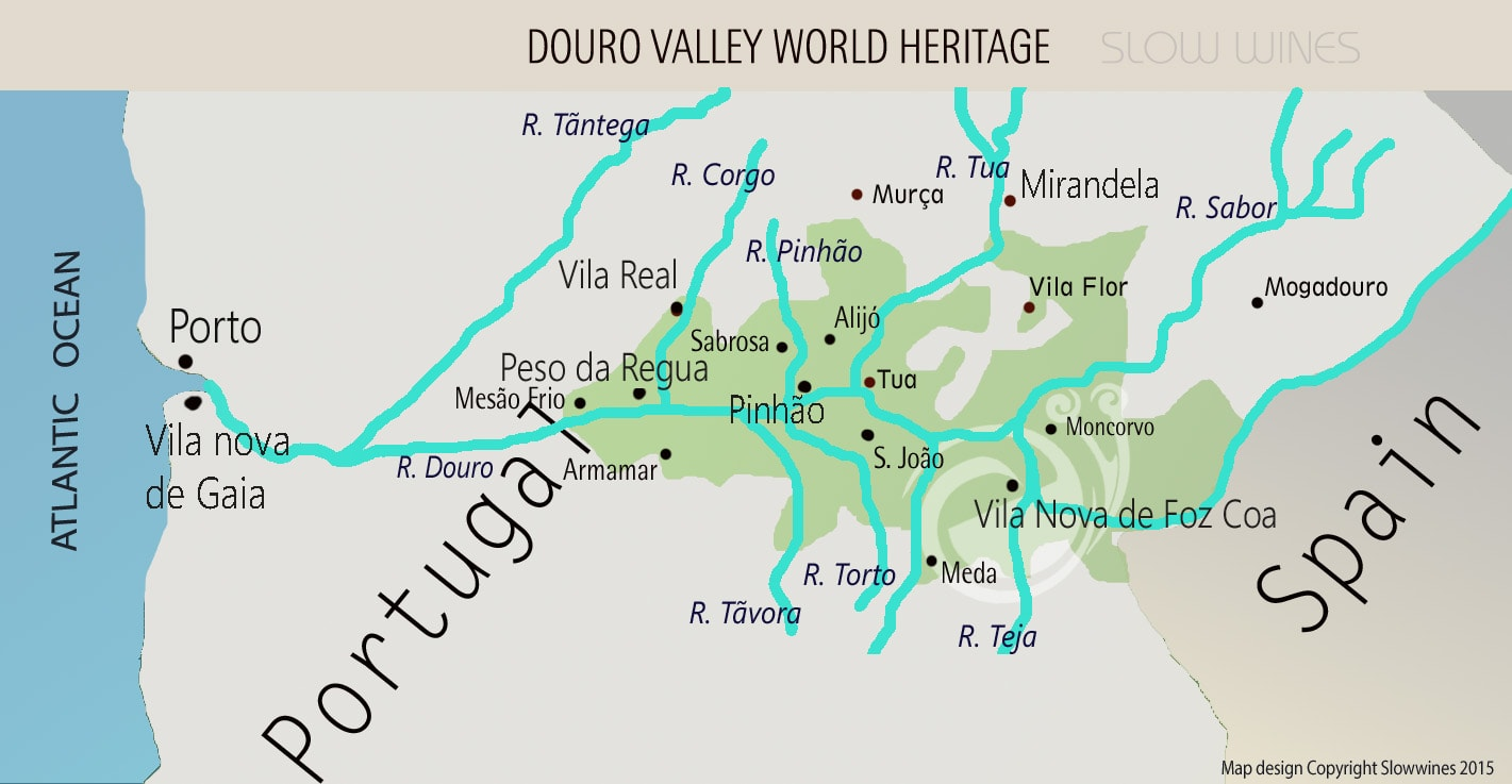 Douro Valley Wine Map