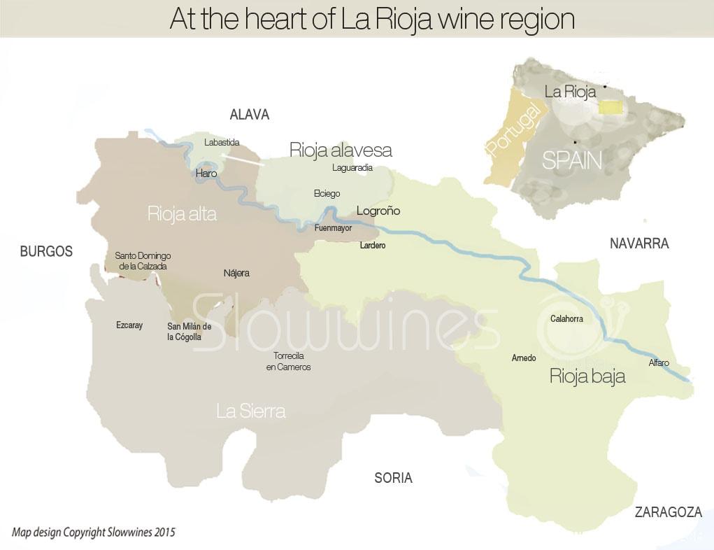 Map Of Spain Rioja.Pdo La Rioja Slowwines Travel