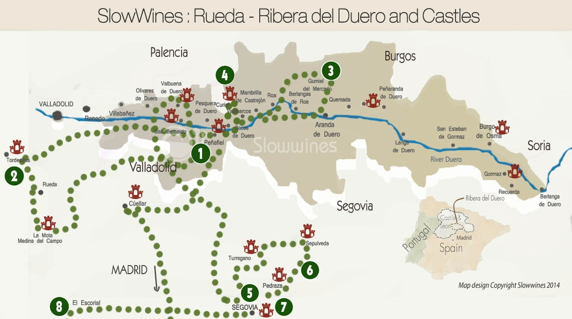 wine route ribera del duero culture and castles